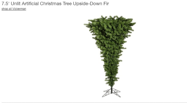 Upside Down Christmas Tree Photos Are