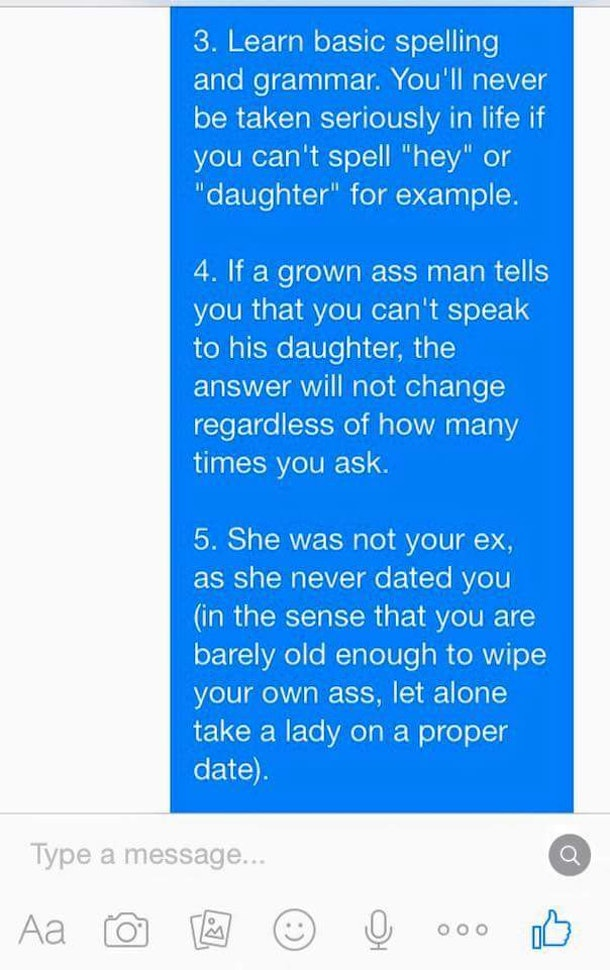 Dad Completely Shuts Down Daughters Desperate Ex Boyfriend In