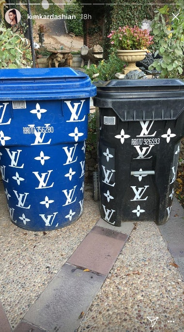 Tweets About Kim Kardashian S Louis Vuitton Trash Cans Are So