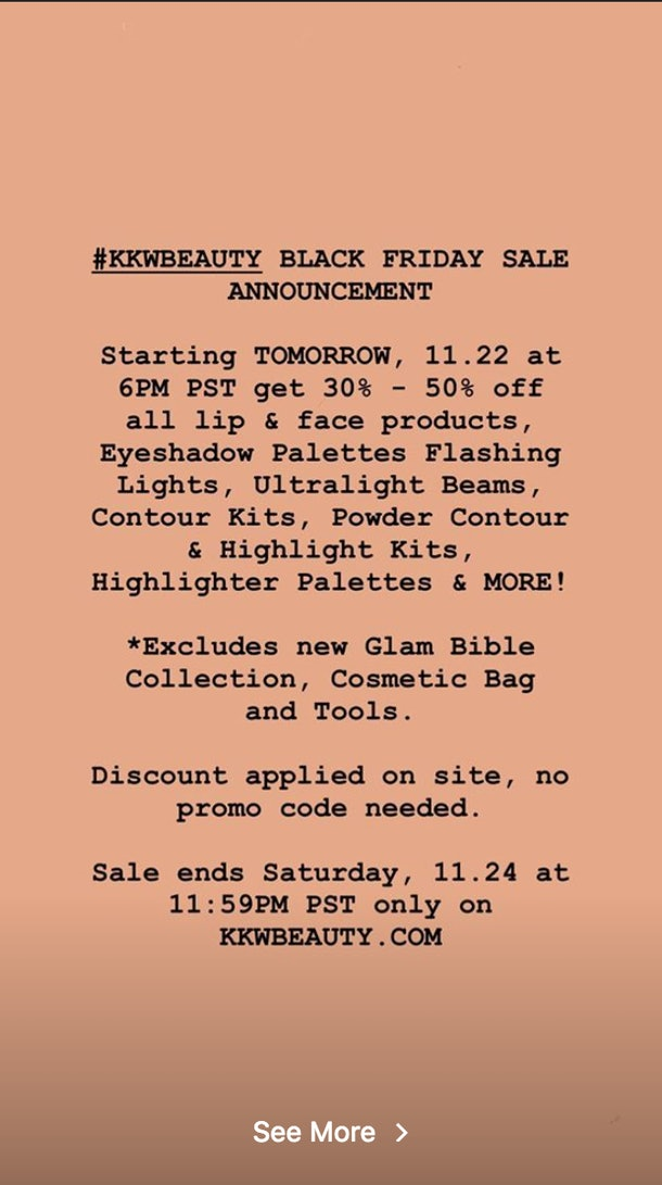 Kkw Beauty S Black Friday 2018 Sale Is Giving You Up To 50