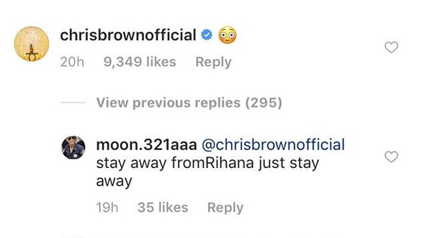 Image result for chris brown comments on rihanna