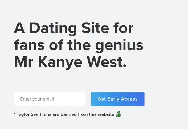 What Is Yeezy.Dating  It s Apparently A Dating Site For Kanye West ... 566943a8f6bf
