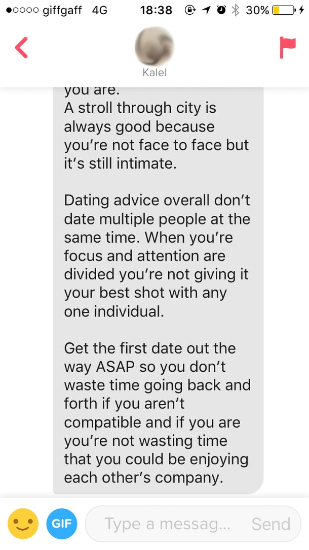 Advice when you first start dating someone