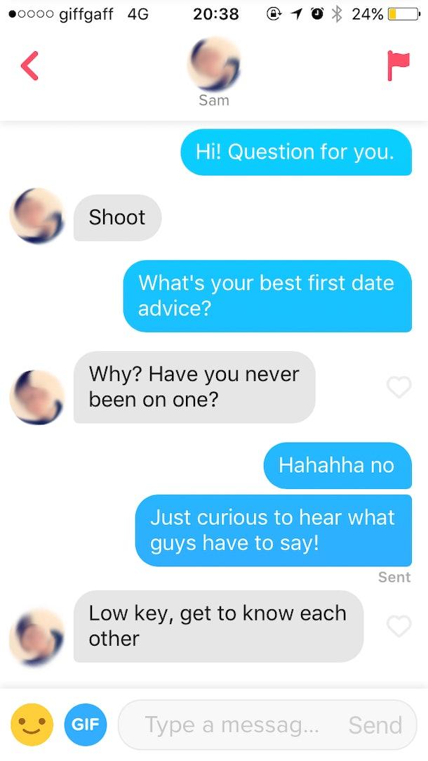 tinder advice