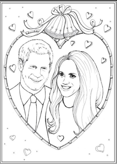 this meghan markle  u0026 prince harry coloring book will get you pumped for the wedding