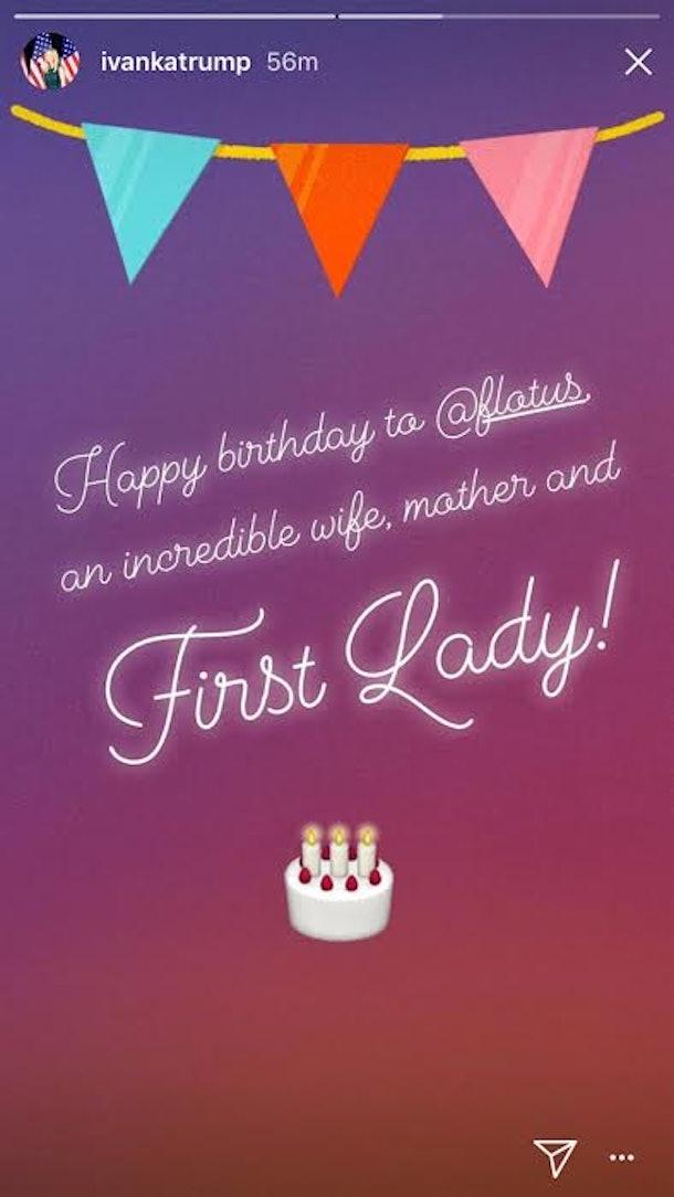 Tiffany Trump Wished Melania A Happy Birthday Right At The Buzzer