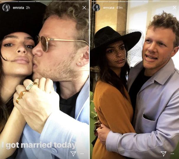 Story Emily Ratajkowski Vetted Husband Two Years: The Photos Of Emily Ratajkowski's Engagement Ring Will