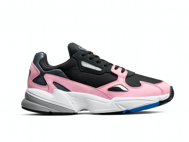Women's Original Falcon Shoes in Core Black and Light Pink