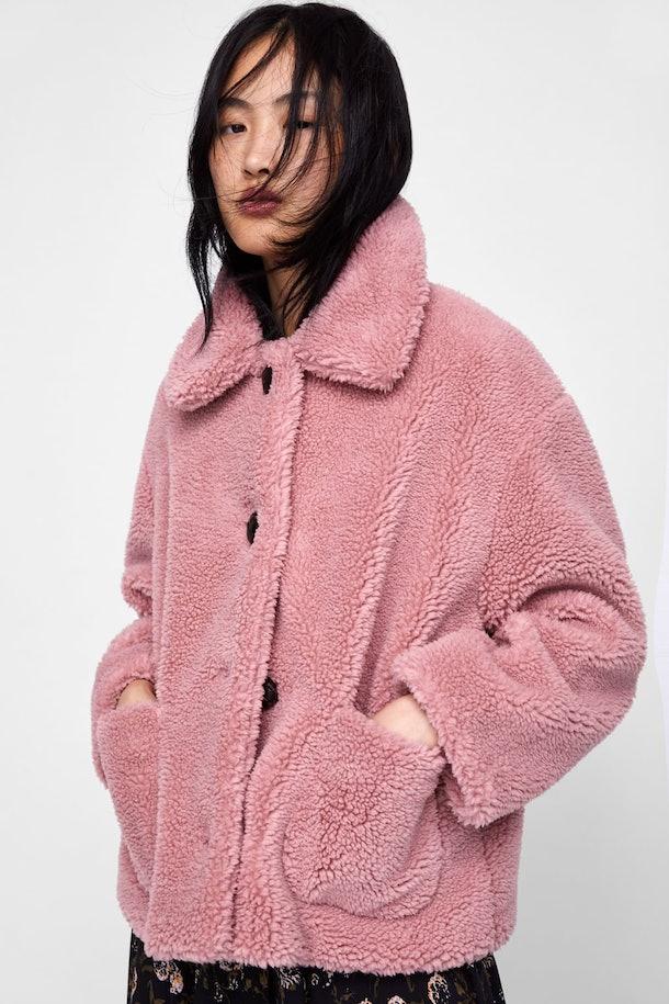 Fleece Jacket in Pink