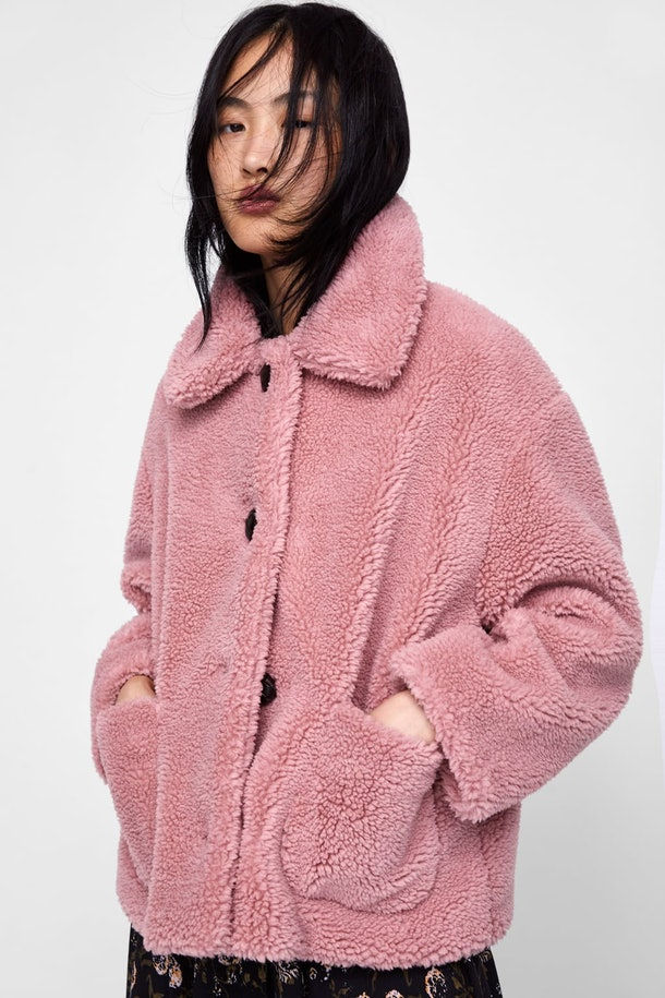 Fleece Jacket in Pink