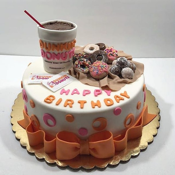Cool These Dunkin Donuts Cakes Are Almost Too Pretty To Eat Personalised Birthday Cards Paralily Jamesorg