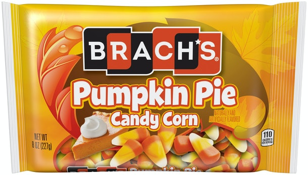 Brach's new candy corn floavors 2019 include pumpkin pie candy corn.