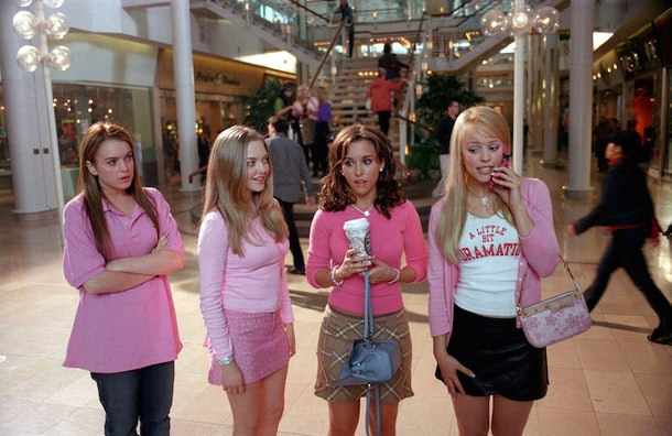 """""""On Wednesdays we wear pink"""" is a great 'Mean Girls' quote for Halloween captions."""