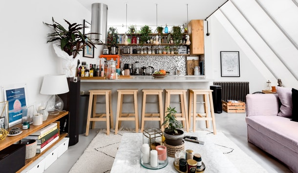 A mini loft on Airbnb in Paris is the perfect place to stay during a trip with your best friend.