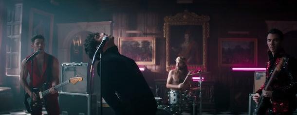 """Jonas Brothers in the Sucker"""" music video make amazing Halloween costumes."""