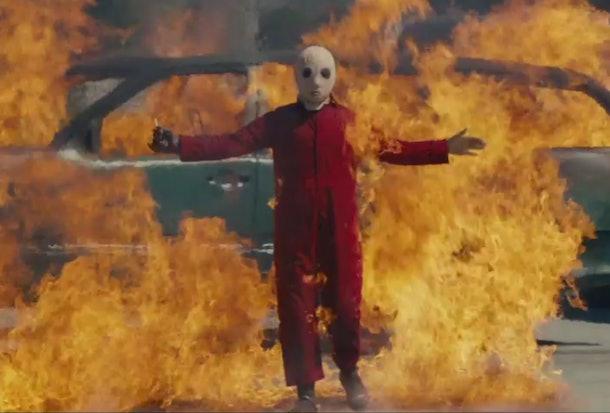Us Movie costume red jumpsuit