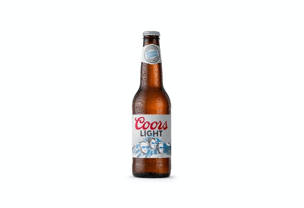 The Jonas Brothers' Coors Light packs have their faces on the label.