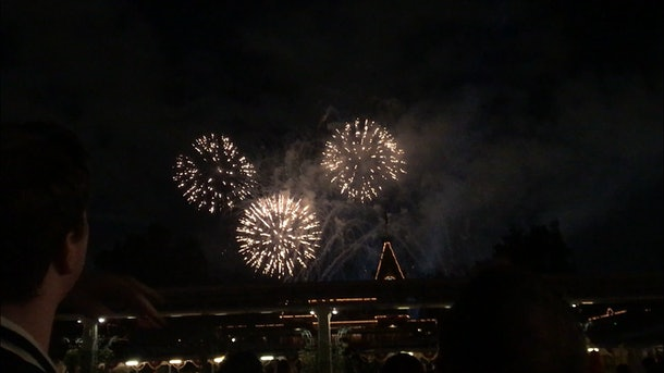 Watching the fireworks at Disney is a romantic Disneyland activity for couples to do.