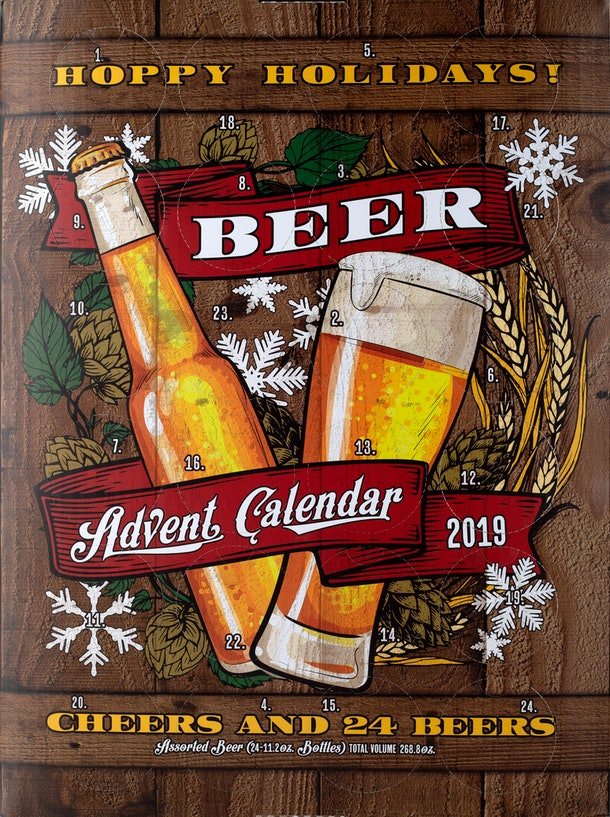 Aldi's 2019 Wine Advent Calendar is available alongside offerings like the Beer Advent Calendar.