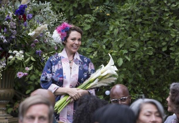 Fleabag's godmother at her wedding on 'Fleabag'