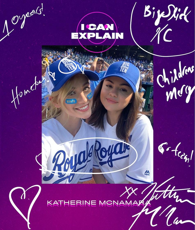 Katherina McNamara and Selena Gomez at the Big Slick