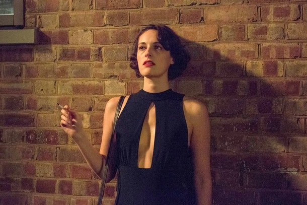 'Fleabag's iconic jumpsuit against a brick wall