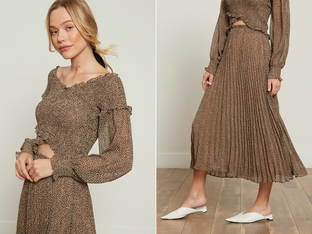 The Cynthia set from Lucy Paris is a great comfy plane outfit for fall.