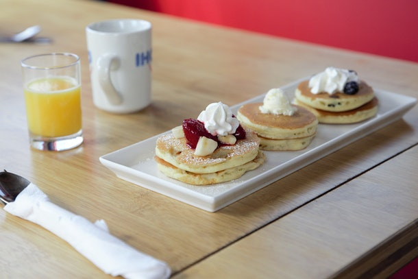 The Tiny IHOP Dinner Series features a menu with mini favorites.