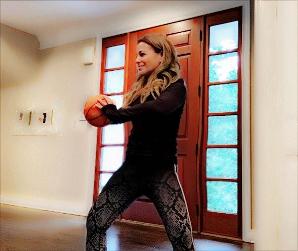 I tried WundaBar like Vanessa Hudgens and here's me doing rotations with a basketball.