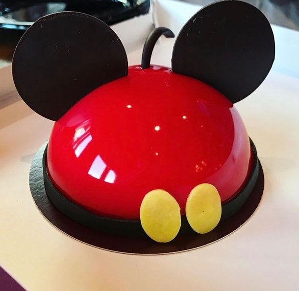 A Mickey dome cake is one of the Mickey-shaped foods at Disney that's a must-try.