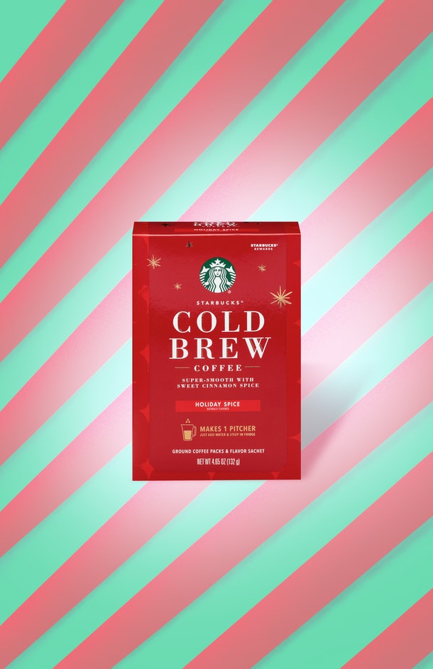 The Starbucks' At-Home Holiday 2019 Coffee Collection has brand-new Holiday Spice Cold Brew Pitcher Packs.