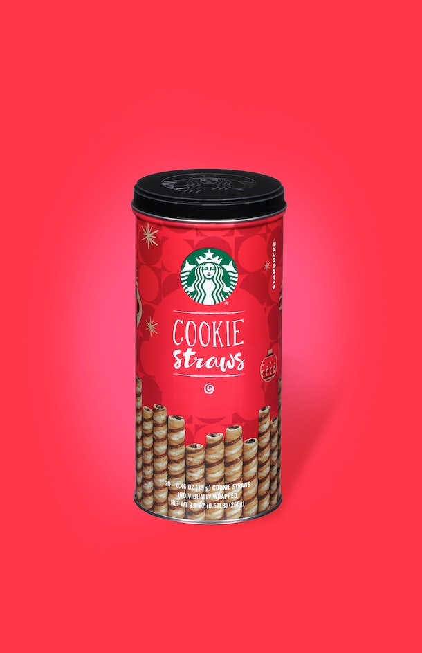 Starbucks' At-Home Holiday 2019 Coffee Collection will include the delicious, chocolate wafter cookie straws so you can have your coffee with wafer-thin cookie.