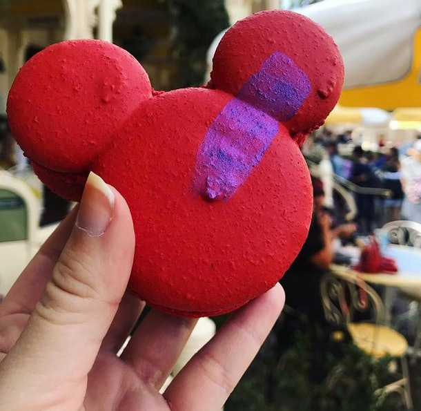 A Mickey macaron is one of the Mickey-shaped foods at Disney that's a must-try.