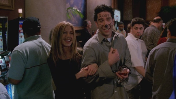 Ross and Rachel drunk in Las Vegas is a classic Friends costume for Halloween