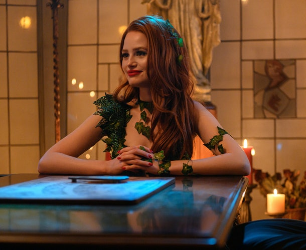 Cheryl Blossom dresses as Poison Ivy for Halloween on 'Riverdale'
