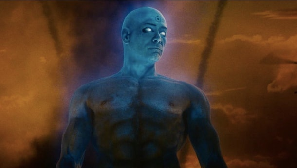 Dr. Manhattan as envisioned by the 2009 Watchmen movie