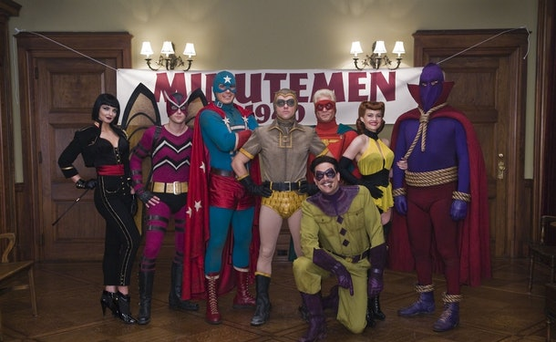 Production Still from the 2009 Watchmen movie