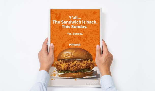 Popeyes' Chicken Sandwich is back November 3, so you don't need to wait much longer.
