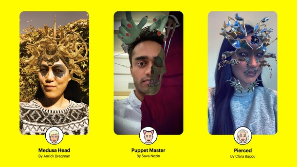 Snapchat Halloween 2019 Lenses were created by Snapchat community Lens creators.
