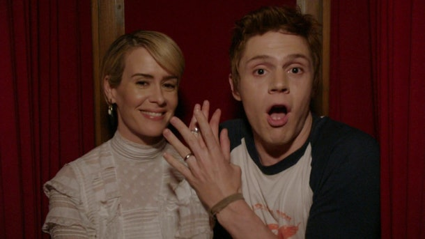 Sarah Paulson and Evan Peters starring in 'American Horror Story: Roanoke'