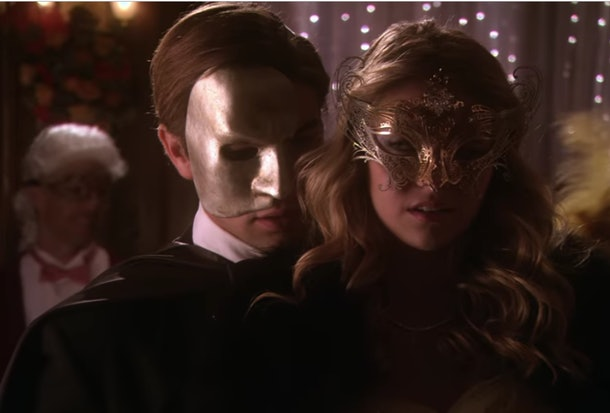 Nate and Jenny at the masquerade ball in 'Gossip Girl'