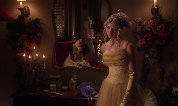 Jenny Humphrey at the masquerade ball in 'Gossip Girl'