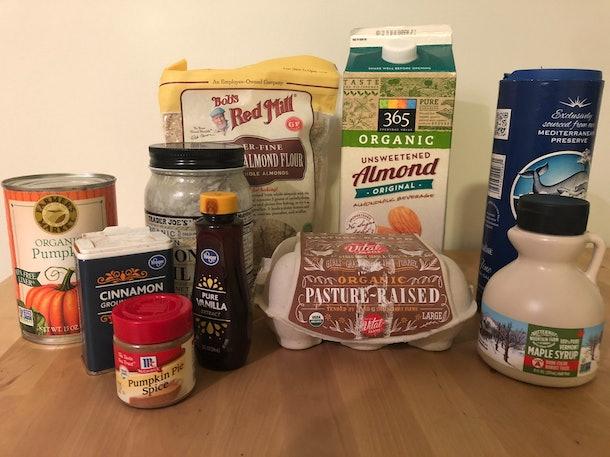 gluten-free pumpkin pie ingredients