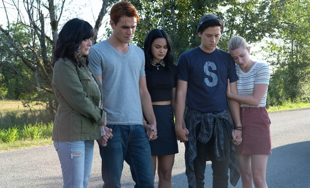 Shannen Doherty on 'Riverdale' mourning the death of Fred Andrews with Archie, Veronica, Jughead, and Betty
