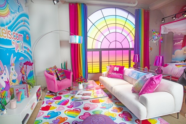 Hotels.com's Lisa Frank flat lounge room in Los Angeles, California