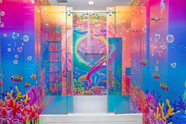 Hotels.com's Lisa Frank flat bathroom in Los Angeles, California