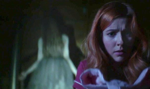 Nancy Drew and the ghost Dead Lacy in 'Nancy Drew'