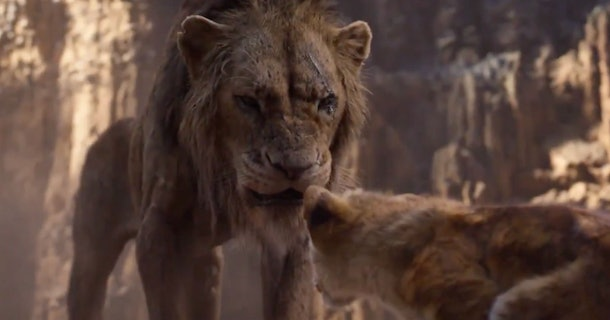 Scar in Disney's Live Action The Lion King