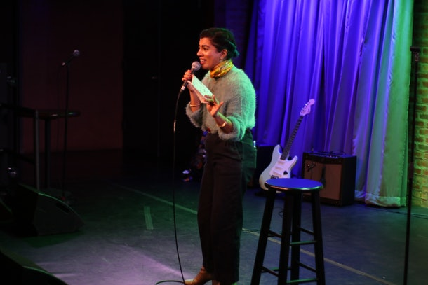 "Comedian Arti Gollapudi performs at ""Rape Jokes By Survivors"" on November 8, 2019."