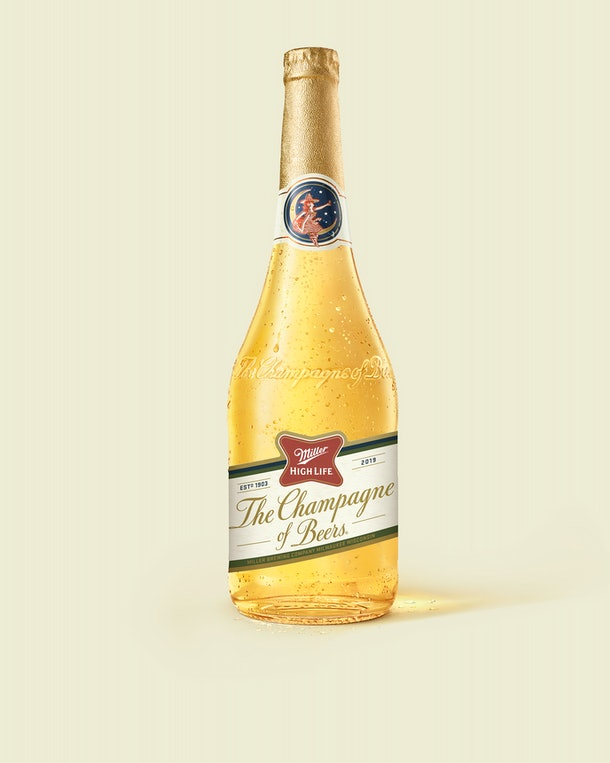 Miller High Life's Champagne Bottles For 2019 will appear in a vending machine across NYC this December.